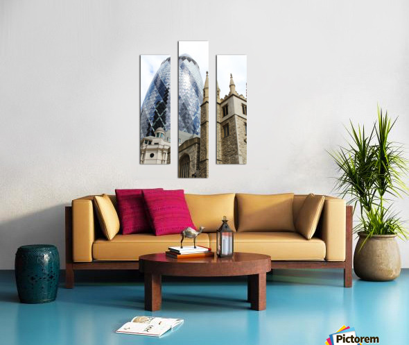 London old and new Impression sur toile