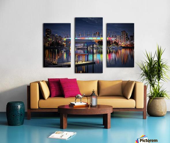 Colorful BC Place Canvas print