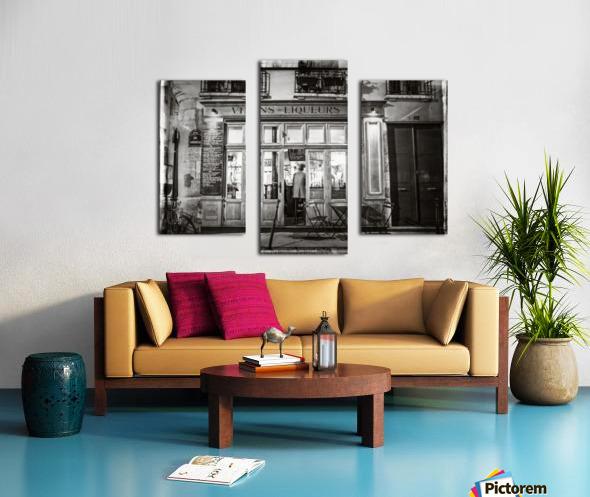 Cafe on street of Montmartre, Paris Canvas print