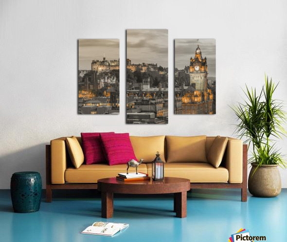 Edinburgh Castle and The Balmoral Hotel, Scotland Canvas print