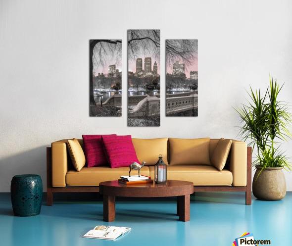 Central park with Manhattan skyline, New York Canvas print