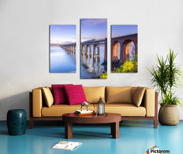 Tay Rail Bridge, Dundee, Scotland Canvas print