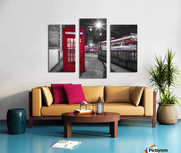 Telephone box with Big Ben, London, Uk Canvas print