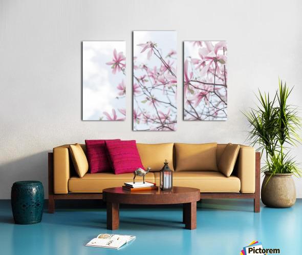 Magnolias against sky Canvas print