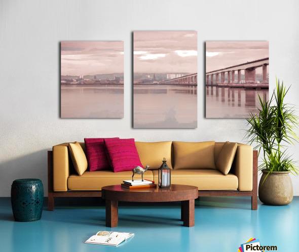 Tay Road Bridge over river Tay, Dundee, Scotland Canvas print