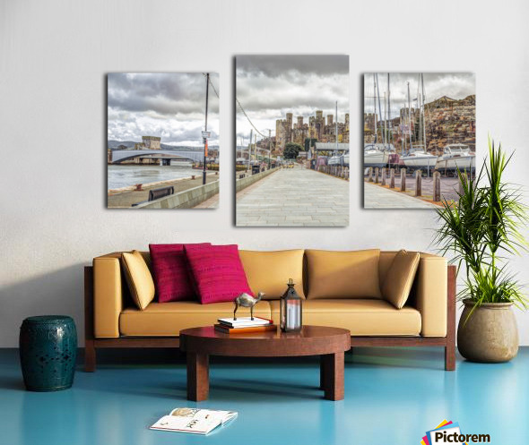 Conwy harbour, North Wales coast Canvas print