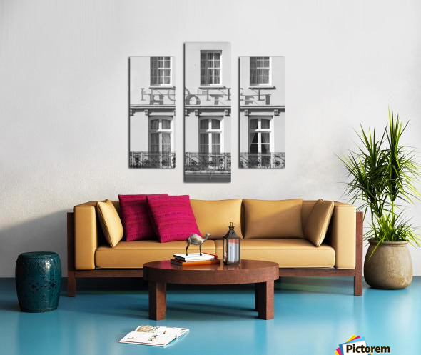 Hotel in Windosr Canvas print