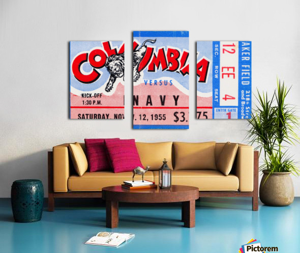 1955 Columbia vs. Navy Canvas print