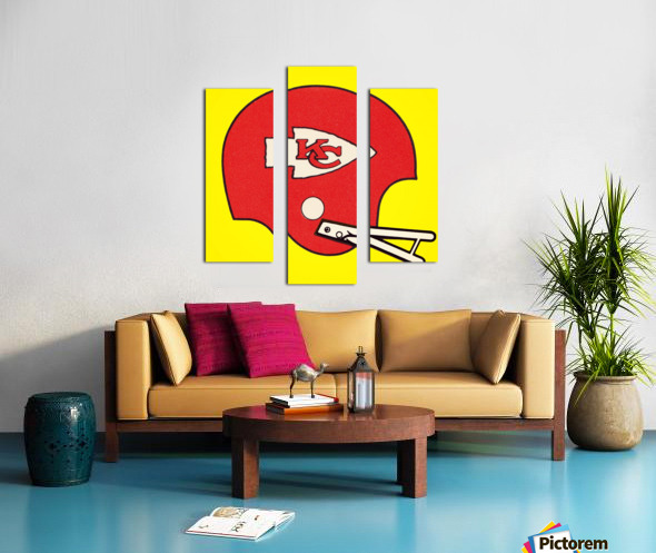 1982 Kansas City Chiefs Helmet Art Canvas print