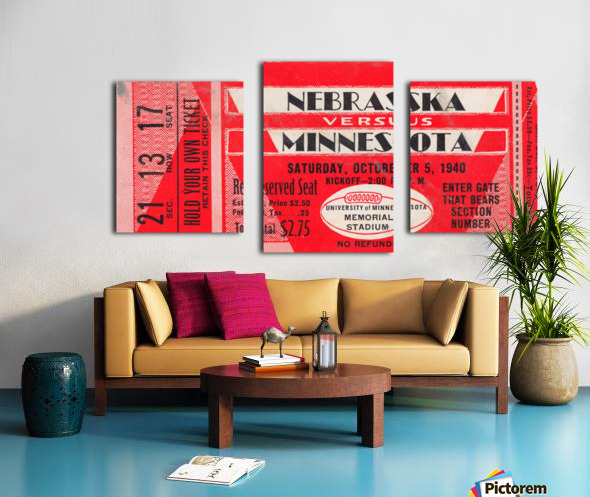 1940 Nebraska vs. Minnesota Canvas print