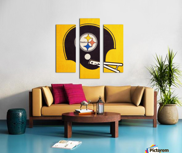 Vintage Pittsburgh Steelers Football Helmet Art Canvas print