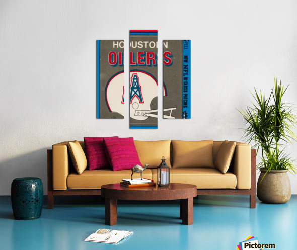 1981 Houston Oilers Helmet Canvas print
