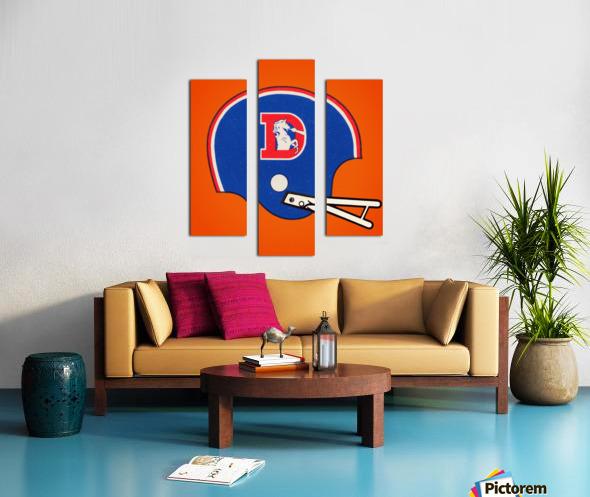 1982 Denver Broncos Football Helmet Art Canvas print