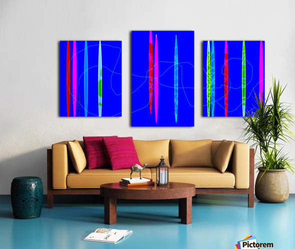 HorizonBlue Canvas print