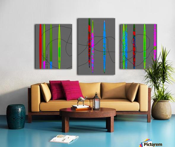 HorizonGreenGrey Canvas print