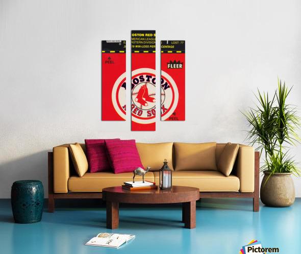 1981 Boston Red Sox Fleer Decal Art Canvas print