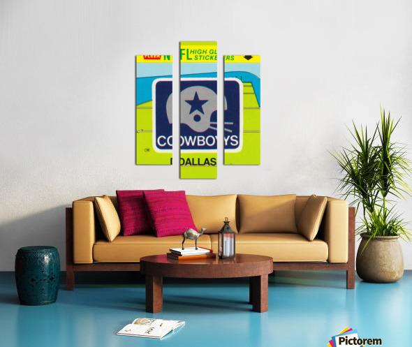 1981 Dallas Cowboys Fleer Decal Art Canvas print