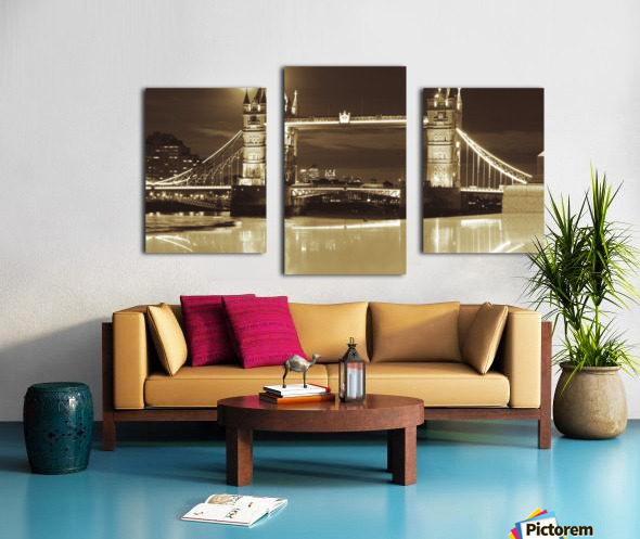 Vintage Tower Bridge - london  Canvas print