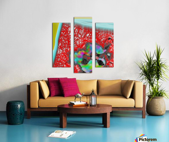 Provokes One to Think of Poinsettias Maybe Canvas print