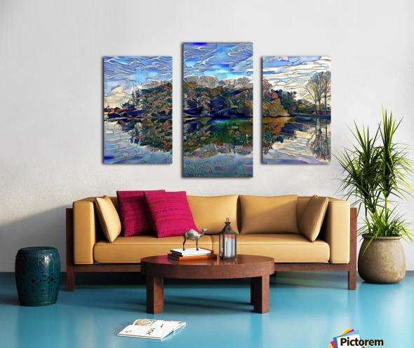 Japanese lake  Canvas print