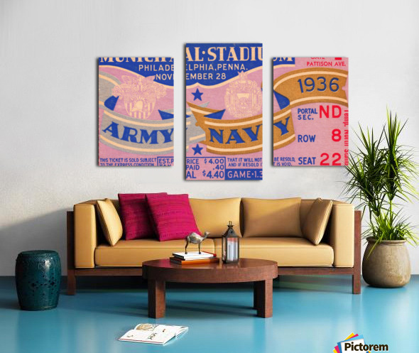 1936 Army Navy Game Canvas print
