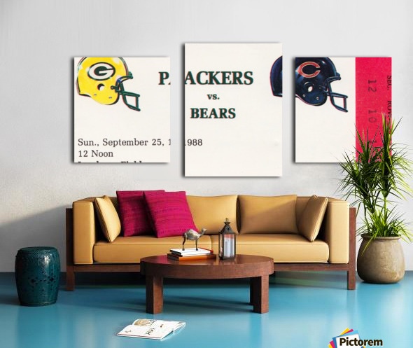 1988 Green Bay Packers vs. Chicago Canvas print