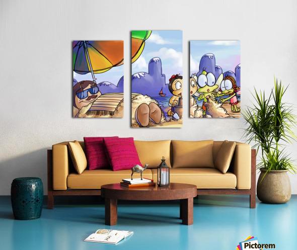 A Dream of Summer - Day at Beach Canvas print