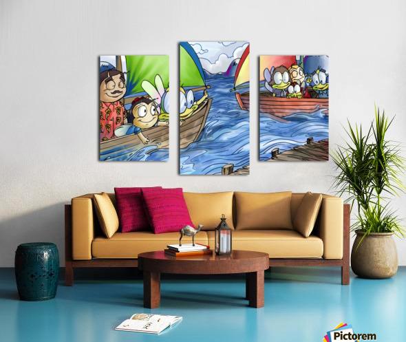 A Dream of Summer - Boats Canvas print