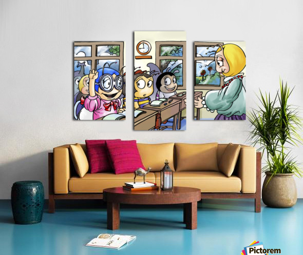 School Days - Classroom Canvas print