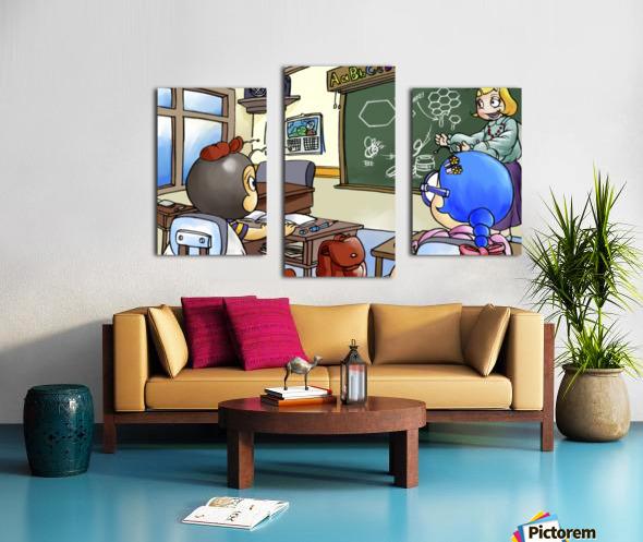 School Days - Teacher - Bugville Critters Canvas print
