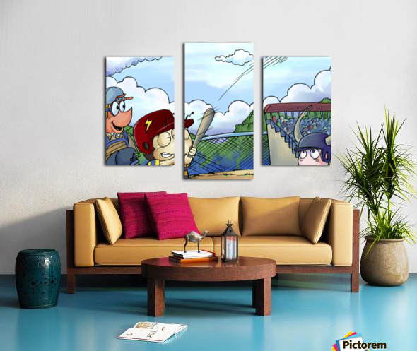 Play Ball - Home Run Swing - Bugville Critters Canvas print