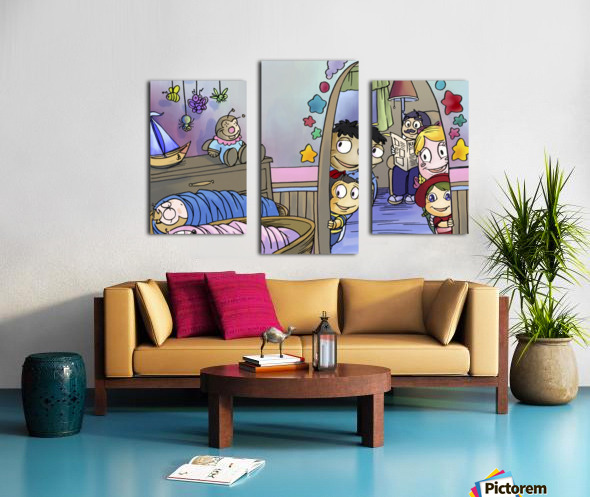 Twins - Baby nursery - Bugville Critters Canvas print