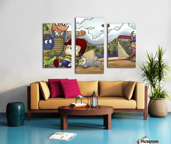 Home base slide Canvas print