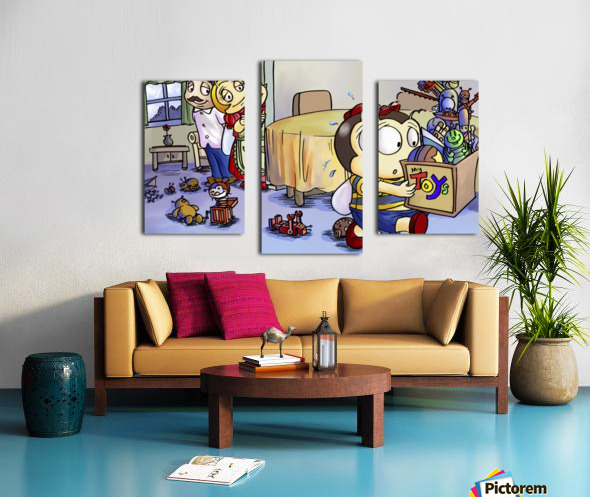 Toy Parade - marching Canvas print