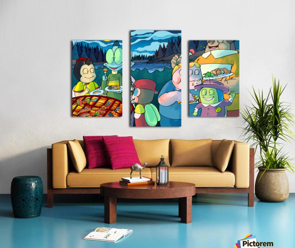 Summer Camp - Cookout - Bugville Critters Canvas print