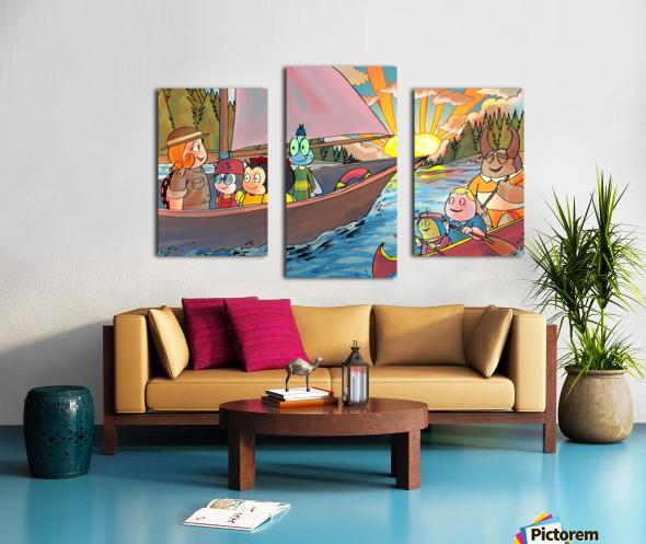 Summer Camp - Sailing Canvas print