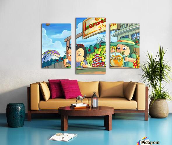 Lemonade Stand - Bugville Critters Canvas print