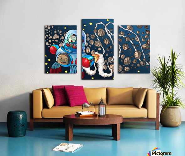 Buzzing Around the Solar System Canvas print