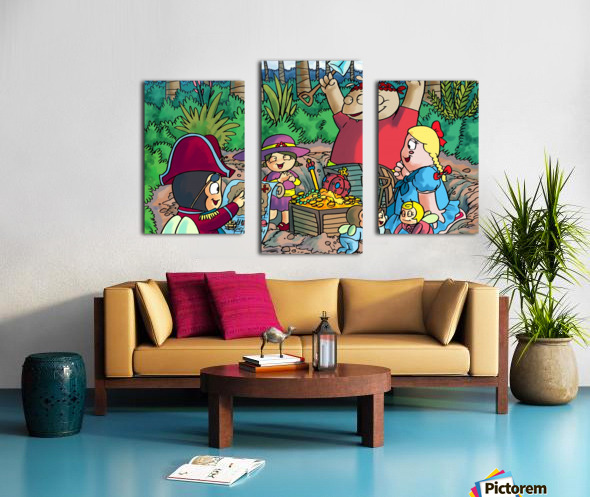 Hidden Treasure - Pirates - Bugville Critters Canvas print