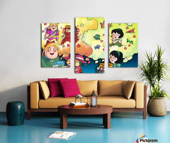 Library Daydreams  Canvas print
