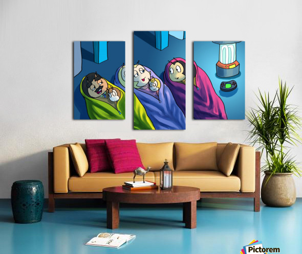 Staying In - Bedtime Canvas print
