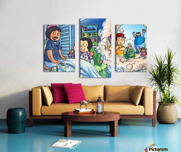 Baseball dreams - Bugville Critters Canvas print