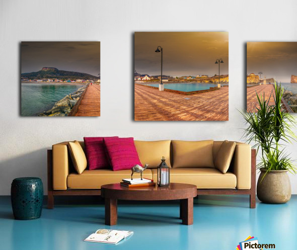 Panorama du quai de Perce Impression sur toile
