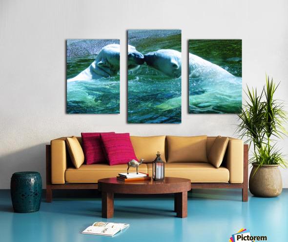 Kiss Me Polar Bears Canvas print