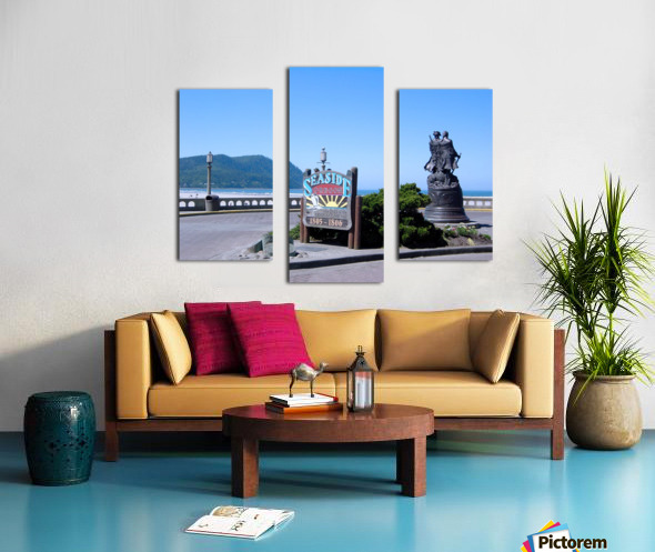 Seaside Oregon   Snapshot in Time Canvas print