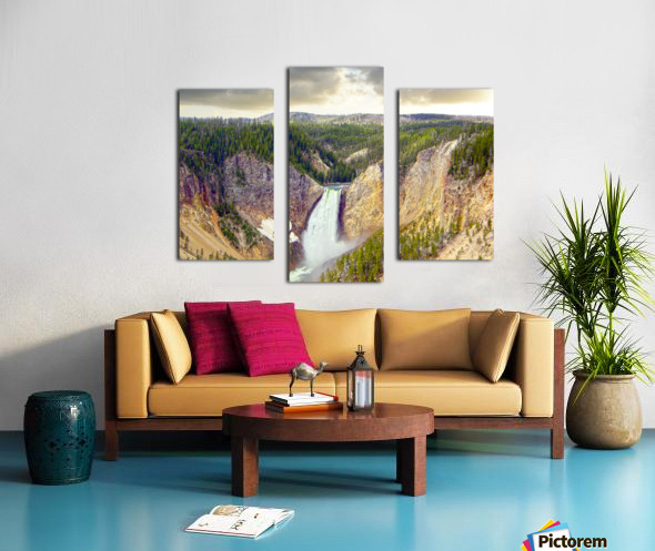 Mighty Yellowstone Canvas print