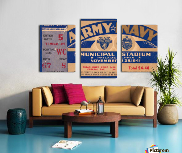 1941 Army Navy Game Canvas print