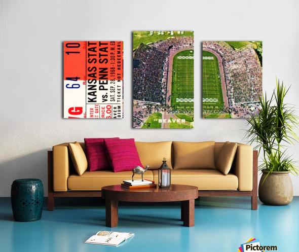 1968 Penn State vs. Kansas State Canvas print