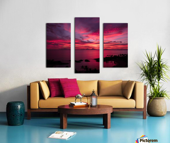 Bliss One - Pink and Purple Kissed Skies Over Hawaii Canvas print