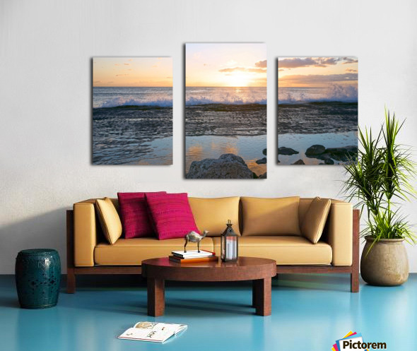 Reflections at the Sea Shore Canvas print